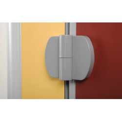 Nylon hinge with stainless steel pin