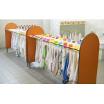 Kinder glass and towel holders