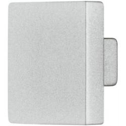 Art. AM002. Pomolo in pressofusione di zinco, forma quadrata – color argento