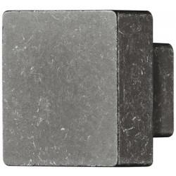 """Art. AM005. Pomolo in pressofusione di zinco, quadrato, """"ferro effetto usurato"""""""